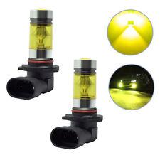 2x New 4300K Yellow High Power 100W 2323  LED 9006 HB4 Fog Driving Light Bulbs