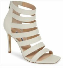 CHARLES DAVID women's shoes Off White Cageeather Sandals Size 9 Brand New!