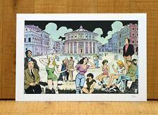 LA CITTà DELLE DONNE grafica poster affiche Milo Manara Erotic Women A59