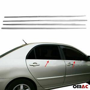 Fits Toyota Corolla 2003-2008 Chrome Window Frame Trim Cover S.Steel 4 Pcs