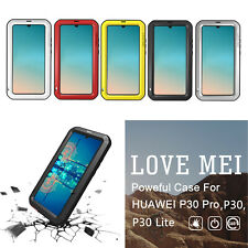 LOVE MEI Silicone Case For Huawei P30 P30Lite P30 Pro Cover Aluminum Metal Shell