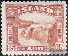 Island 154 gestempelt 1931 Gullfoss