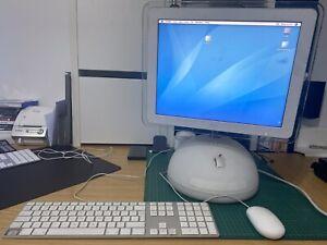 Vintage Apple iMac G4 Desktop Computer With Original Apple Keyboard & Mouse