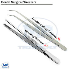 Dental Surgical Dressing Thumb London College Picking Tweezers Tissue Artery Lab