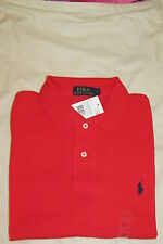 POLO RALPH LAUREN MENS POLO T SHIRT SIZE LARGE RED NEW WITH TAGS RRP £70