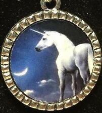 "Unicorn Horse Mix B Charm Tibetan Silver with 18"" Necklace BIN"