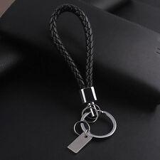 Fashion Creative Men Black Leather Key Chain Ring Keyfob Car Keyring Keychain