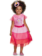 Girl's Classic Sesame Street Elmo Pink Dress With Headband Costume Small 4-6x