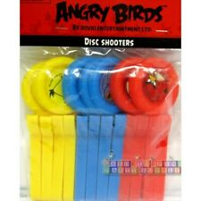 ANGRY BIRDS DISC LAUNCHERS (12)~ Birthday Party Supplies Favors Plastic Toyd