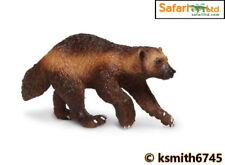 Safari WOLVERINE solid plastic toy wild zoo animal predator scavenger * NEW 💥