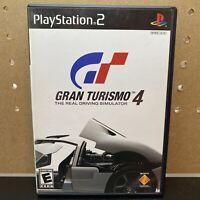 GRAN TURISMO 4 Sony PlayStation 2 BLACK LABEL ps2 COMPLETE IN BOX CIB Manual