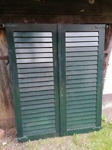 1 Paar Fensterladen - Holz - gebraucht - Höhe 162,5 cm - Breite 64,5 cm