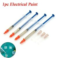 Silver Conductive 1.0ML Glue Wire Electrically Paste Adhesive Paint PCB Repair
