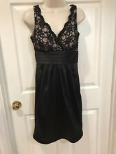 NW Collections Women's Dress Size 4 Small Little Black Dress Sequins Lace