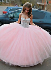 Baby pink Evening Dress Quinceanera Prom Party Gown Princess Dresses Ball Gowns