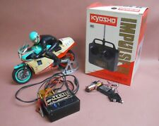Vintage Kyosho 1/8 scale motorcycle plus radio and charger