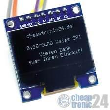 "0,96"" OLED Display SPI 128x64 7 Pin Modul Arduino Raspberry Pi Weiß"