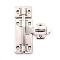 "4"" Stainless Steel Hardware Door Lock Barrel Bolt Latch Padlock Clasp Set Gir EP"