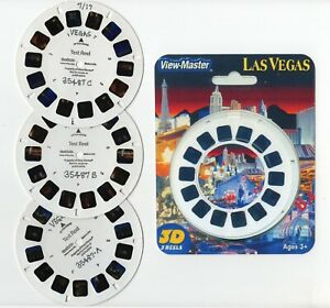 LAS VEGAS Nevada View-Master 3 TEST Reels and Copy Cover