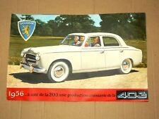 GRAND & BEAU Prospectus PEUGEOT 403 1956 brochure catalogue propekt car auto