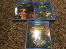 New Disney Hayao Miyazaki lot of Blu-Ray Spirited Away Mononoke Kiki Delivery