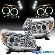 For 2005-2011 Toyota Tacoma LED Halo Projector Headlights Lamps