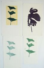 4 x linocuts by Heather Townshend (1934-2008) abstract landscape 2003
