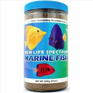 New Life Spectrum Marine Fish Regular Sinking Pellet Marine Fish Food 1mm 600g