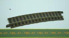 Voie FLEISCHMANN PROFI HO Rail Courbe 356.5 mm ref 6122 ballast intégré Lot de 3