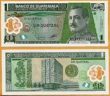 Guatemala 2012 UNC 1 Quetzal  Banknote Polymer Money Bill P-115