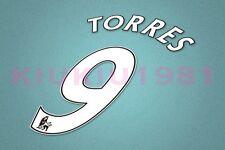 Chelsea Torres #9 PREMIER LEAGUE 07-13 White Name/Number Set