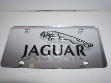 Jaguar License Plate Silver/Black NEW!