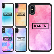 iPhone 8 7 6 Plus X 5 SE 5c Case Painting Personalised Text Initial Custom Name