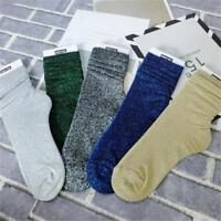Socks Metallic Glitter Shimmer Socks Casual Ankle Loose-Women Ladies Socks