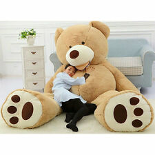 """134""""340cm Giant Teddy Bear (ONLY SKIN NO PP COTTON) Huge Stuffed Toy With Zipper"""