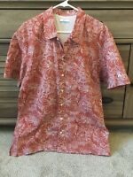 Columbia PFG Tribal Floral Marlin Button-Up Vented Fishing Shirt Men's Size L
