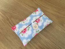 Packet Tissue Holder - Handmade in Cath Kidston Blue Provence Rose Fabric