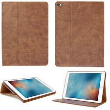 Jada Cuero Cubierta para Apple Ipad Air 2 Funda Protectora Tablet Estuche Marrón