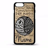 Yin and yang aum namaste quote phrase symbol personalised name phone case cover