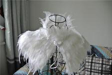 White feather cape feather jacket feather shoulder shawl shrug 3 ply