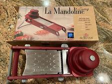 De Buyer La Mandoline Swing Red Slicer Professional Double Blades France