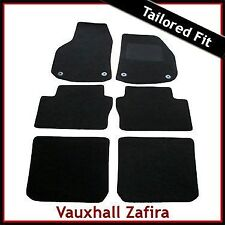 Vauxhall Zafira B / Mk2 2005-2014 3-Rows Tailored Carpet Car Floor Mats BLACK
