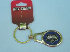 """OMAHA STORM CHASERS """"Champions"""" Silver Oval Metal KEYCHAIN / KEYRING Rico  NWT"""