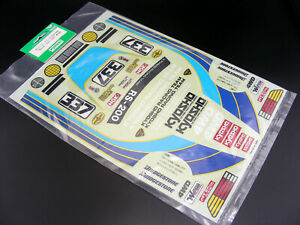 Vintage Original 1988 Kyosho #3013 FORD RS200 FD35 Decal Sticker Sheet Brand NEW