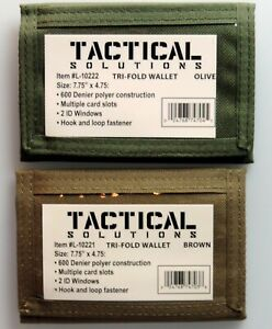 Tactical Military Tri- Fold Polyester Wallet with Multiple Card Slots