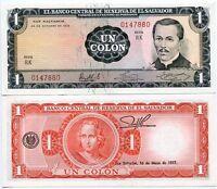 EL SAVADOR 1 COLONES 1972/1977 P 115 a UNC