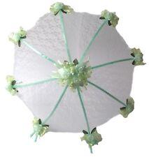 "32"" Bridal Shower Wed Lime Green roses Umbrella Parasol"