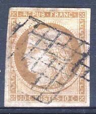 """FRANCE STAMP TIMBRE 1 """" CERES 10c BISTRE-JAUNE 1850 """" OBLITERE TB A VOIR   M938"""