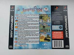 playstation 1 back inlay insert artwork only jumping flash