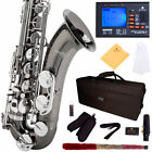 MENDINI BLACK NICKEL W/ NICKEL KEYS TENOR SAXOPHONE SAX W/ TUNER, CASE, CAREKIT